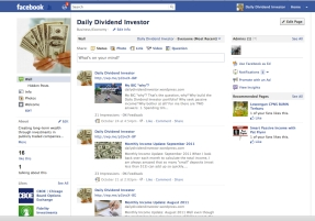 facebook daily dividend investor blog fan page passive income stream