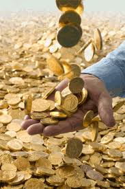 showered gold coins passive income daily dividend investor blog
